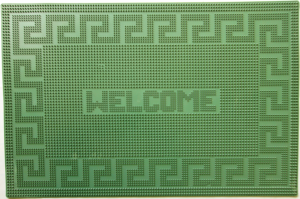 Коврик PIN MAT Welcome, зеленый, 40х60см